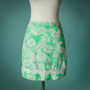 Lilly Pulitzer 4 Green Glenda Beach Bash Skirt